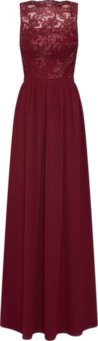 Czerwona sukienka Chi Chi London rozkloszowana