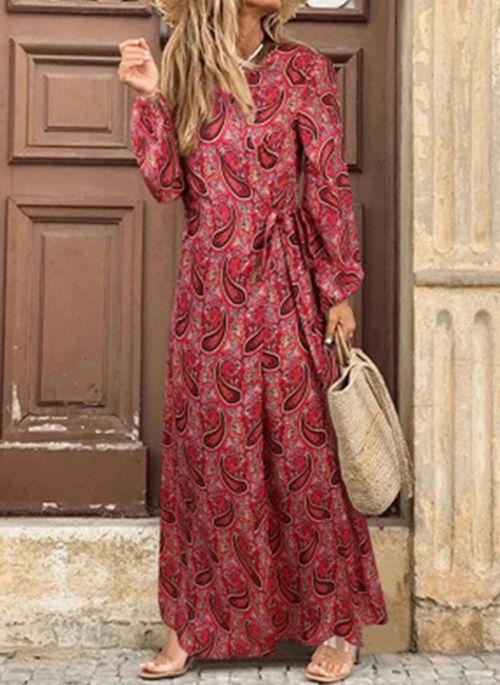 Czerwona sukienka Cikelly z dekoltem w kształcie litery v