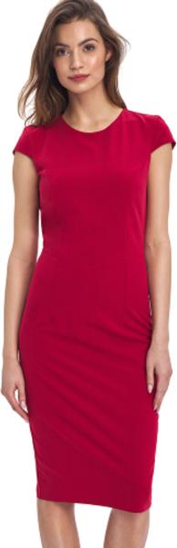 Czerwona sukienka Colett midi
