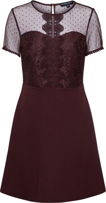 Czerwona sukienka Dorothy Perkins trapezowa mini z krótkim rękawem