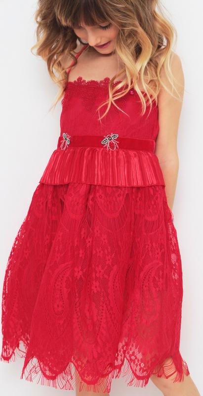 Czerwona sukienka dziewczęca Anima By Justyna Steczkowska