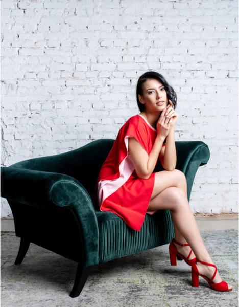 Czerwona sukienka ELEONORA PORTERA