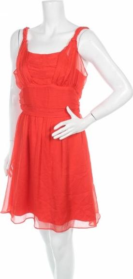 Czerwona sukienka Events mini na ramiączkach z okrągłym dekoltem