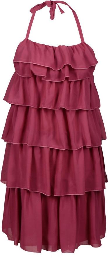 Czerwona sukienka Fokus bez rękawów w stylu casual rozkloszowana