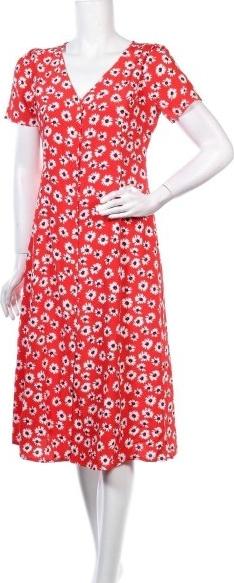 Czerwona sukienka Gap z dekoltem w kształcie litery v z krótkim rękawem