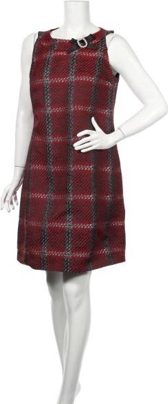 Czerwona sukienka Gattinoni mini z okrągłym dekoltem bez rękawów