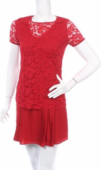 Czerwona sukienka Intimissimi mini z okrągłym dekoltem