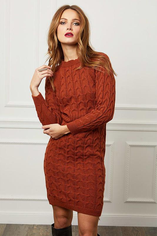 Czerwona sukienka Joséfine mini w stylu casual z długim rękawem