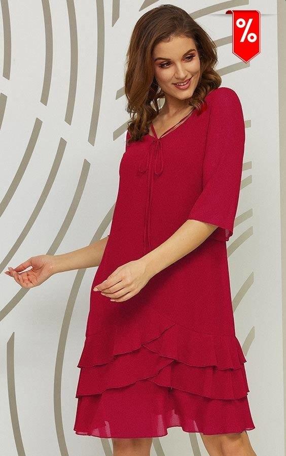Czerwona sukienka Kaskada mini