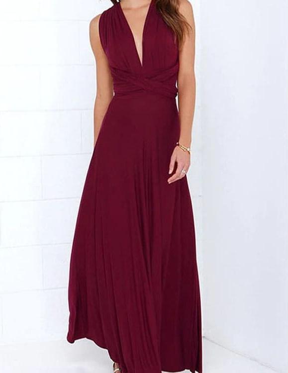 Czerwona sukienka Kendallme z dekoltem w kształcie litery v bez rękawów
