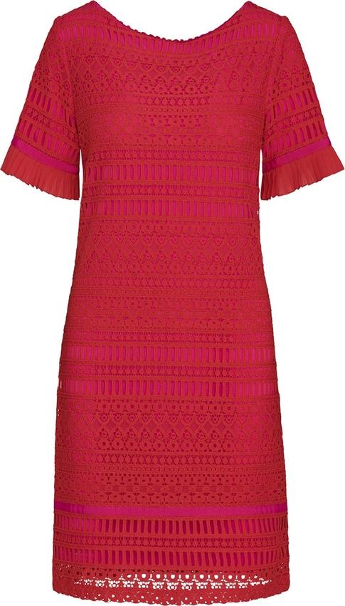 Czerwona sukienka Lavard z krótkim rękawem