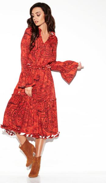 Czerwona sukienka Lemoniade z dekoltem w kształcie litery v