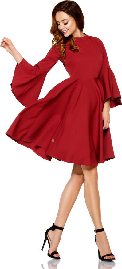 Czerwona sukienka Lemoniade z okrągłym dekoltem z długim rękawem