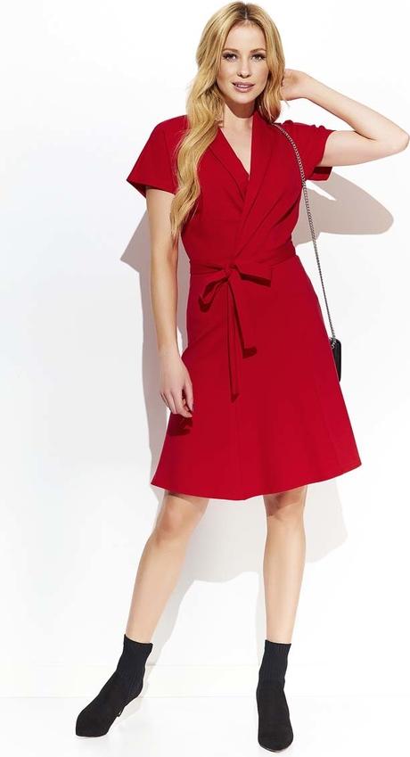 Czerwona sukienka Makadamia mini