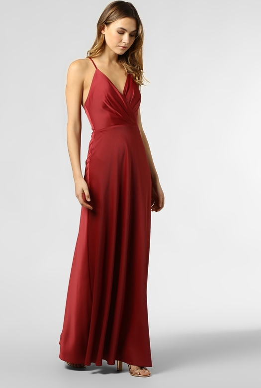 Czerwona sukienka Marie Lund maxi kopertowa na ramiączkach