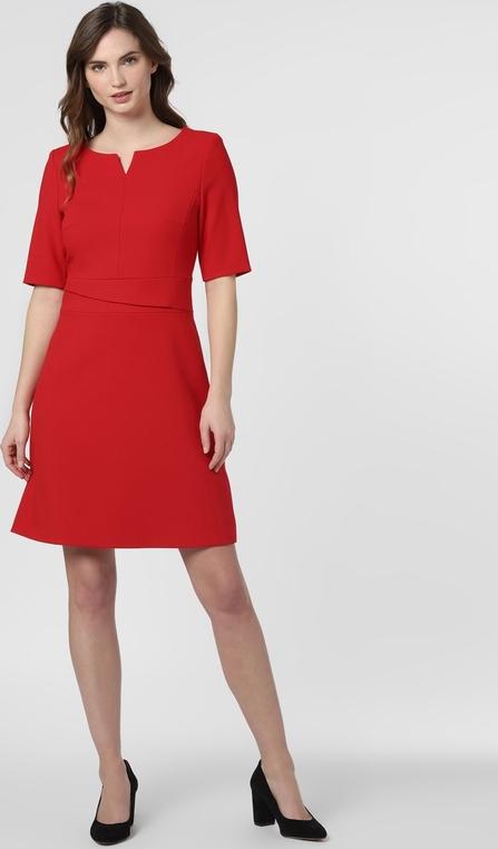 Czerwona sukienka Marie Lund mini z krótkim rękawem