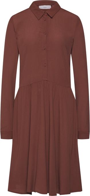 Czerwona sukienka Minimum z kołnierzykiem koszulowa