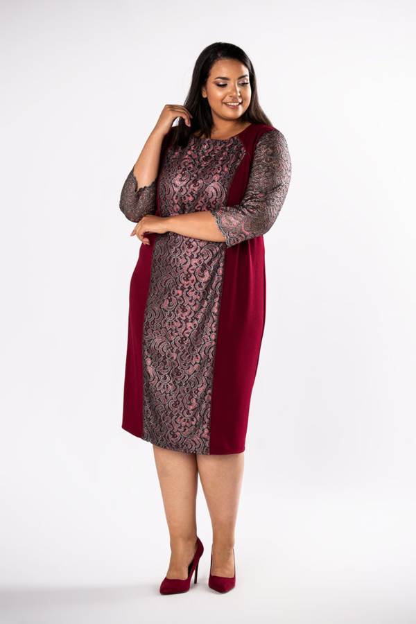 Czerwona sukienka Moda Dla Ciebie midi