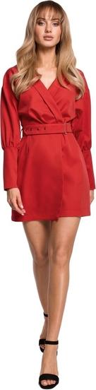 Czerwona sukienka MOE z tkaniny