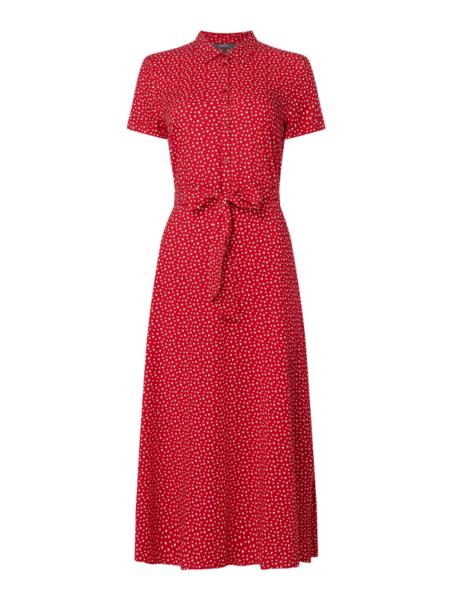 Czerwona sukienka Montego z krótkim rękawem