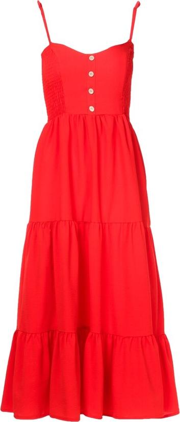 Czerwona sukienka Multu na ramiączkach