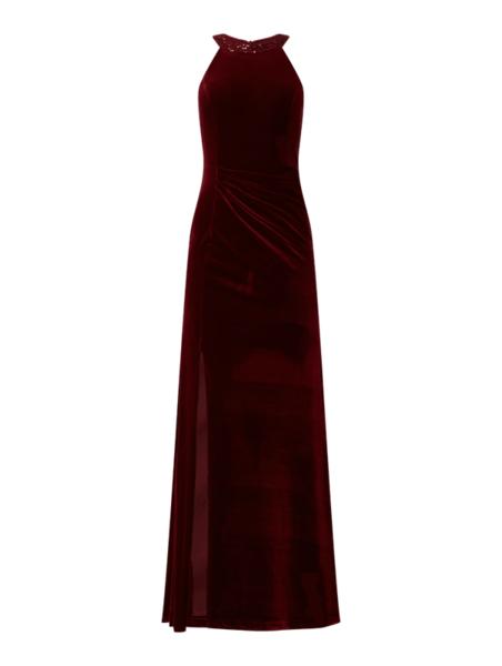 Czerwona sukienka Paradi z dekoltem w kształcie litery v bez rękawów