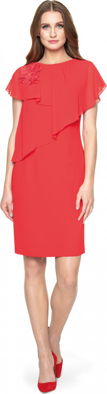 Czerwona sukienka POTIS & VERSO ołówkowa