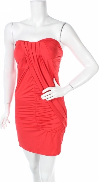Czerwona sukienka R.j.story bez rękawów gorsetowa mini