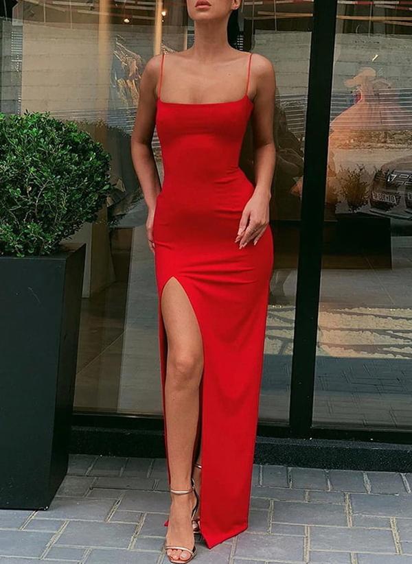 Czerwona sukienka Sandbella hiszpanka na ramiączkach
