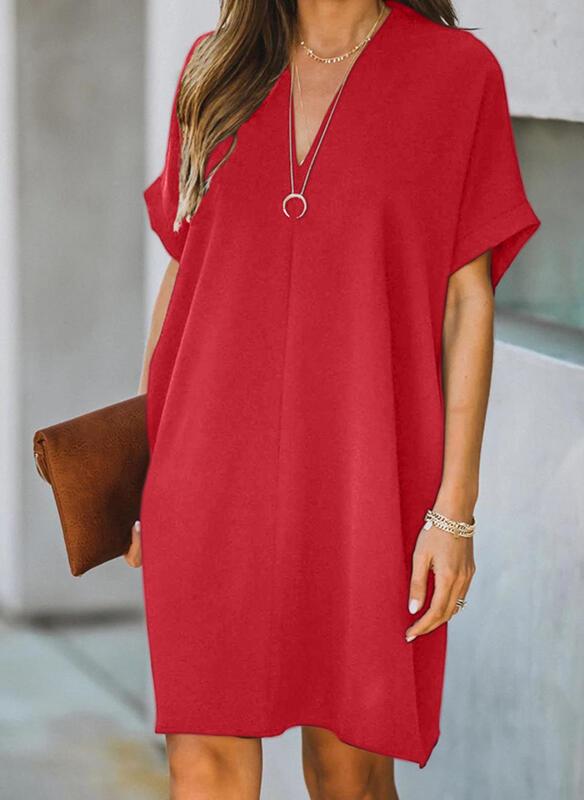 Czerwona sukienka Sandbella prosta
