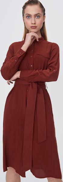 Czerwona sukienka Sinsay midi