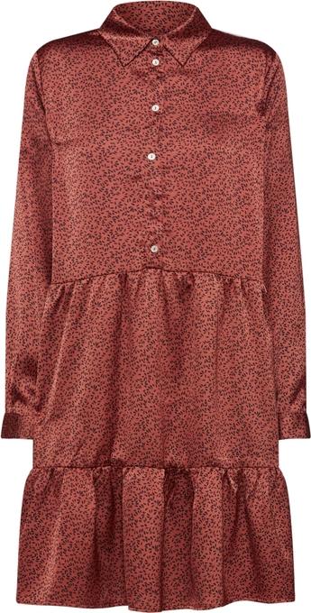 Czerwona sukienka Sister'S Point w stylu casual mini koszulowa