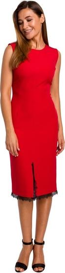 Czerwona sukienka Style z tkaniny