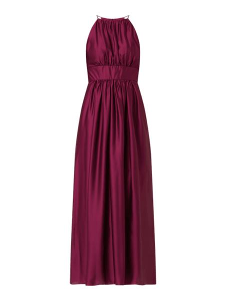 Czerwona sukienka Swing bez rękawów