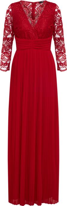 Czerwona sukienka Tfnc rozkloszowana maxi