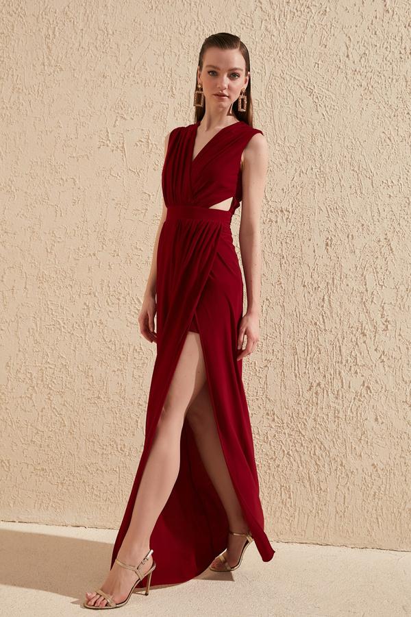Czerwona sukienka Trendyol maxi