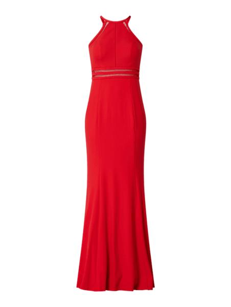 Czerwona sukienka Troyden Collection maxi bez rękawów