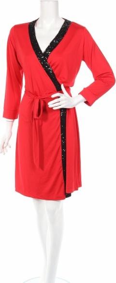 Czerwona sukienka Wendy Williams mini z dekoltem w kształcie litery v
