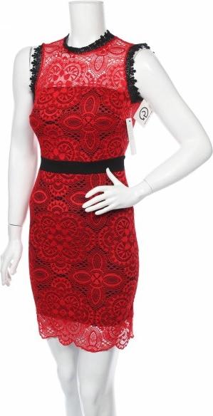 Czerwona sukienka William bez rękawów