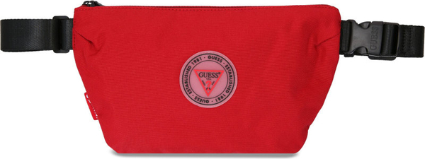 Czerwona torba Guess ze skóry