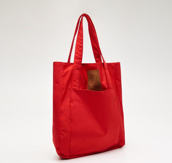 Czerwona torebka Cropp z tkaniny na ramię
