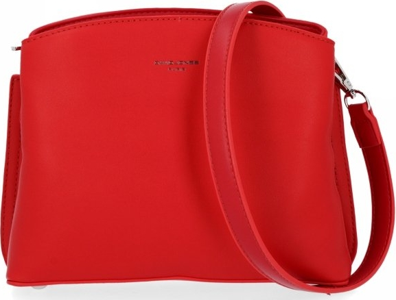 Czerwona torebka David Jones ze skóry ekologicznej w stylu glamour lakierowana