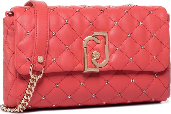 Czerwona torebka Liu-Jo mała na ramię w stylu glamour