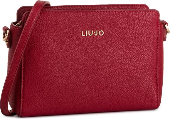 Czerwona torebka Liu-Jo matowa na ramię średnia
