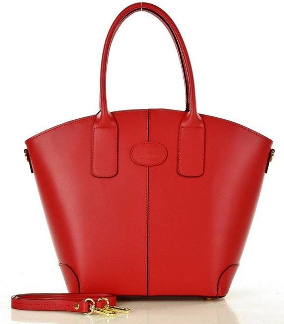 Czerwona torebka Merg do ręki w stylu glamour