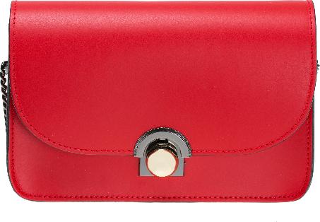 67b87bfe5a548 Czerwona torebka Vera Pelle na ramię średnia