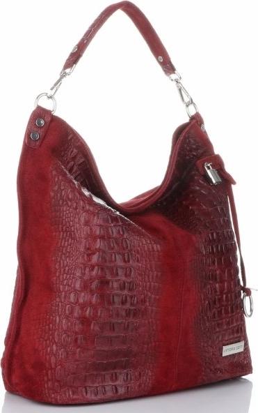 Czerwona torebka VITTORIA GOTTI ze skóry w stylu casual