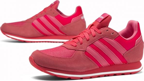 Czerwone buty sportowe Adidas sznurowane