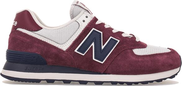 Czerwone buty sportowe New Balance z zamszu sznurowane