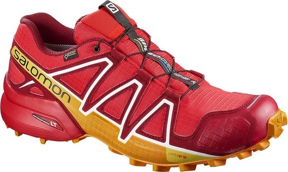 Buty sportowe męskie Salomon sznurowane czerwone